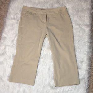 Daisy Fuentes Khaki Career Capri Stretch Pants 10P